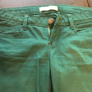 Skinny jeans, teal